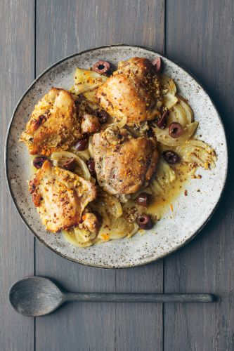 Slow-Cooker Chicken with Fennel, Orange and Olives
