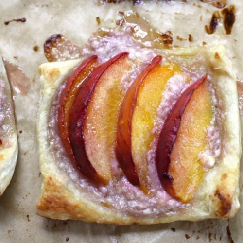 Puff Pastry Peach Tartlets