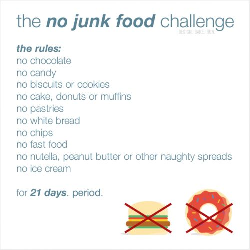 Observing lent and the no junk food challenge