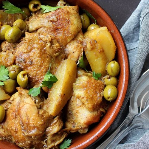 Olive chicken stew