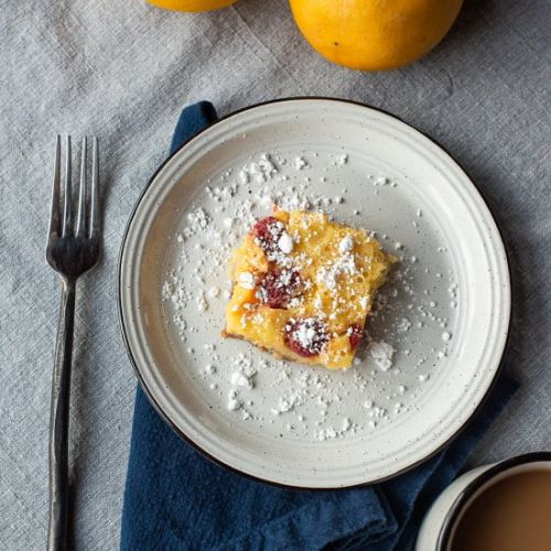 Whole Meyer Lemon Raspberry Bars