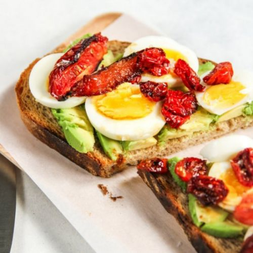 Avocado Toast with Hard-Boiled Eggs