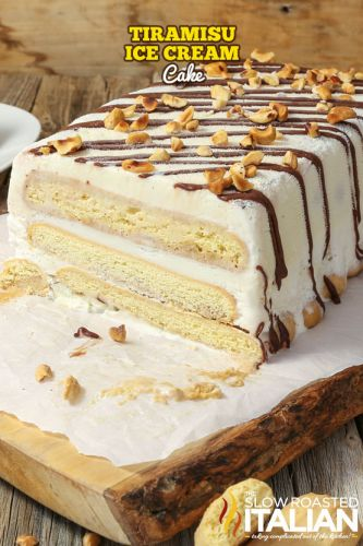Tiramisu Ice Cream Cake + VIDEO