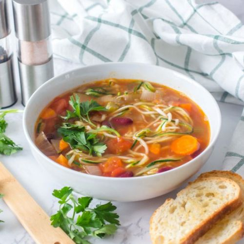 Zoodles and Vegetables Soup