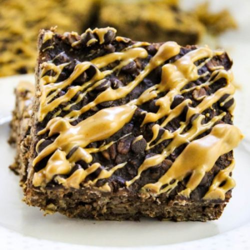 Peanut Butter Brownie Oatmeal Bars