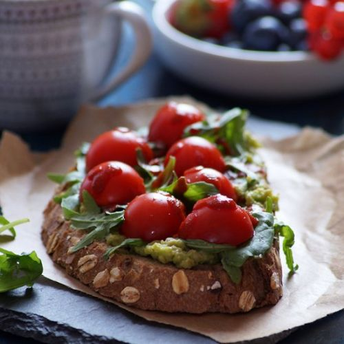 Avocado Cherry Tomato Toast