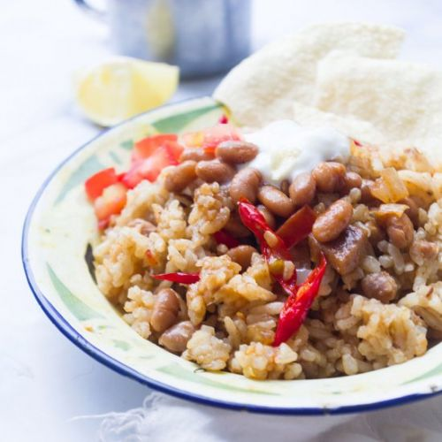 Middle Eastern Rice and Beans