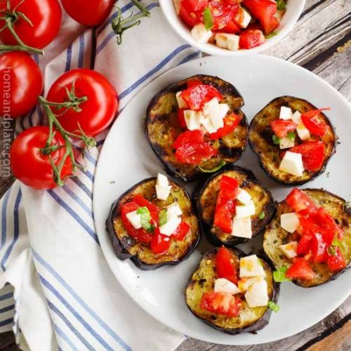 Grilled Eggplant with a Tomatoes