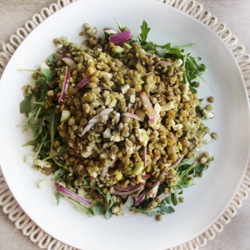 Detox Lentil Salad with Feta Cheese