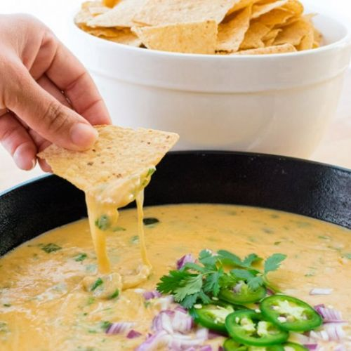 Roasted Poblano Queso Dip