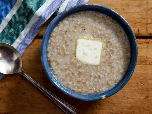 Traditional Scottish-Style Oatmeal With Butter