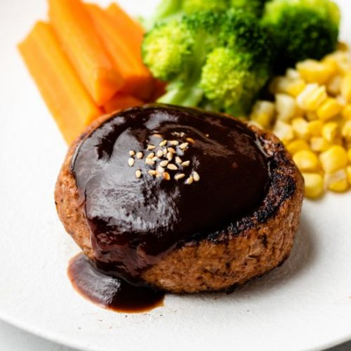 Vegan japanese hamburger steak