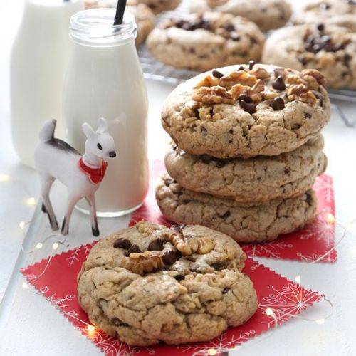 Giant Walnut Chocolate Chip Cookies