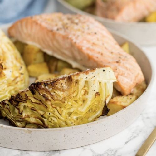 Roasted Parmesan Cabbage Wedges wit