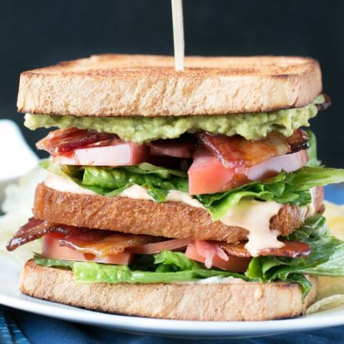 Double Decker BLAT with Spicy Candied Bacon