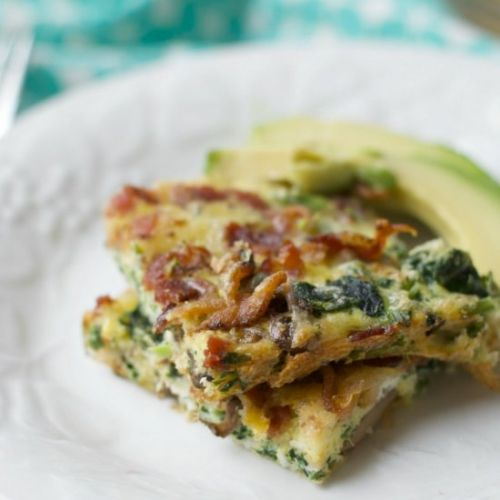 Bacon, Spinach and Cheese Casserole