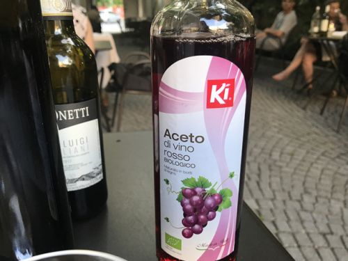 Your Italian wine is organic but what about your vinegar?