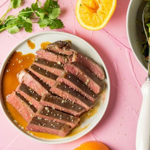 Orange Marinated Strip Steak