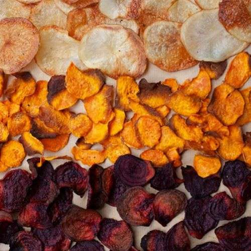 Oven Baked Root Vegetable Crisps