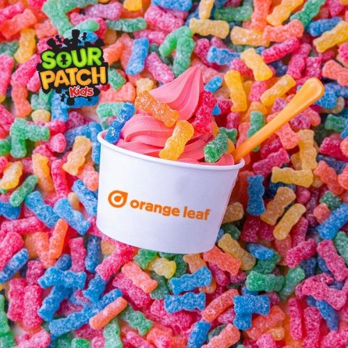 Orange Leaf and Sour Patch Kids Team Up to Make Summer Sour