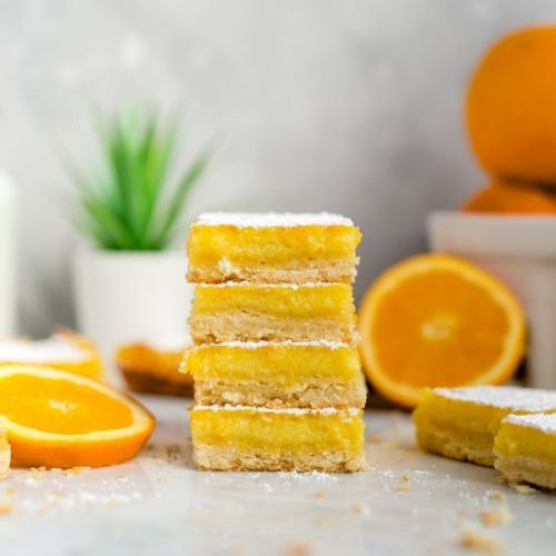 Orange Shortbread Bars