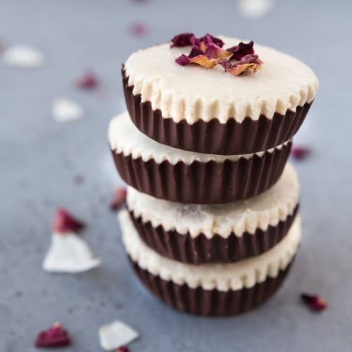 Rose Infused Chocolate Cups
