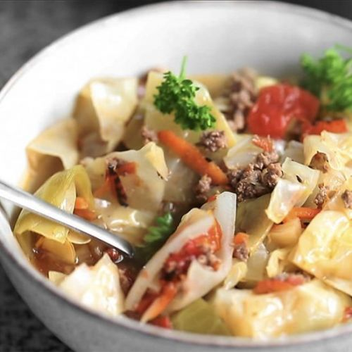 Unstuffed Cabbage Soup with Sausage