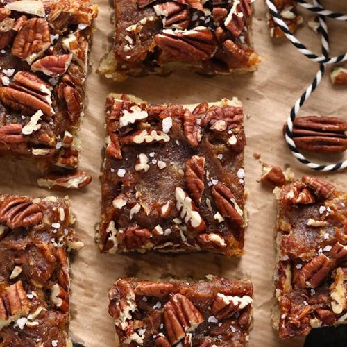 Easy Pecan Pie Bars with Date Caramel