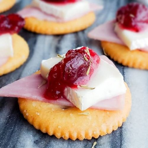 Ham, Brie and Cranberry Bites
