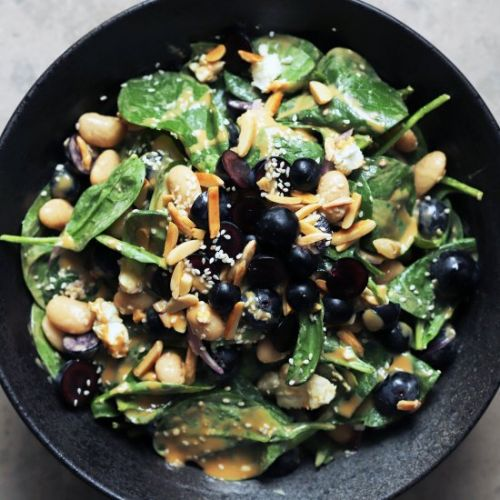 Aberdeen grape and spinach salad