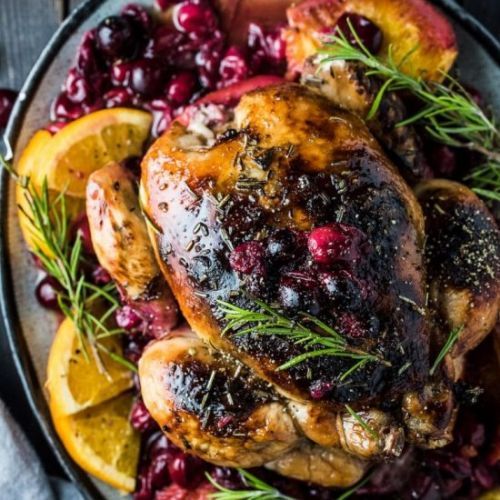 Orange Cranberry Roast Chicken