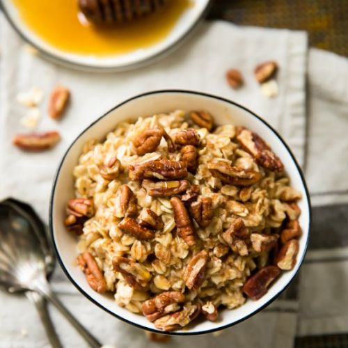 Easy Pecan Pie Protein Oatmeal