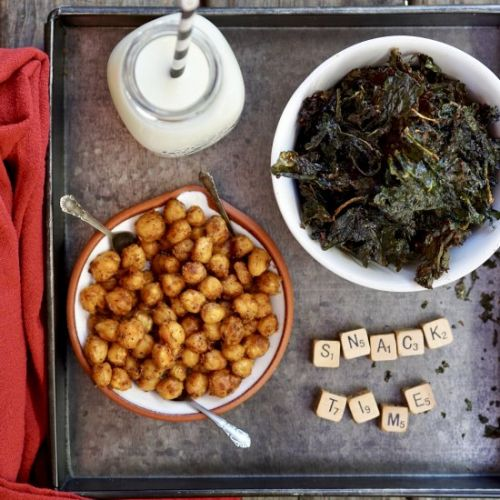 Kale + Garbanzo Bean Snacks
