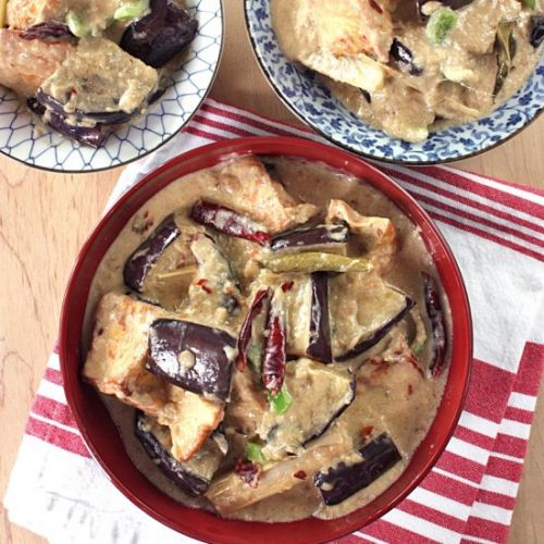 Tofu and Eggplant in Coconut Sauce