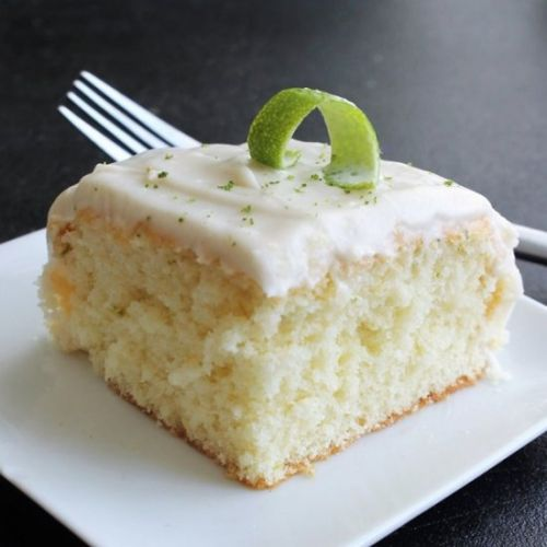 Lime Cake w/ Cream Cheese Frosting