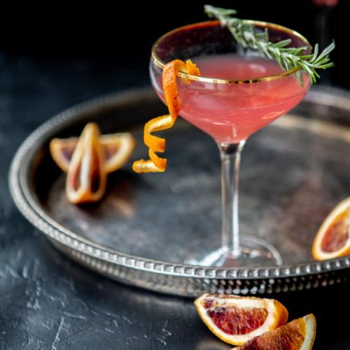 Blood orange cosmo spritzer