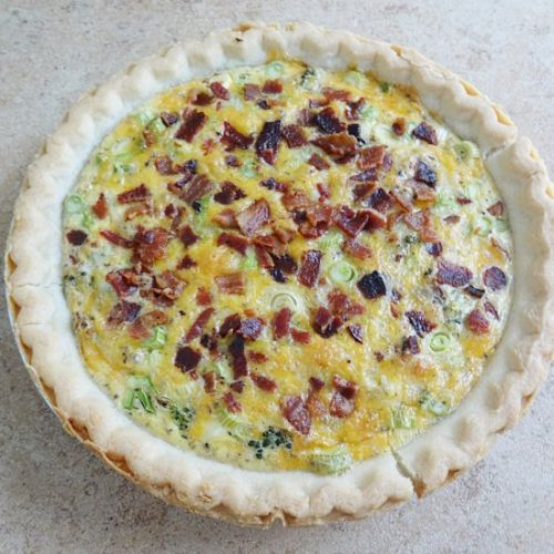 Broccoli Bacon Quiche with Cheese