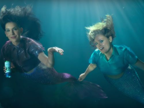 Two Mermaids Pitch Their Drink to a Bunch of Sharks in Bon & Viv's Super Bowl Ad