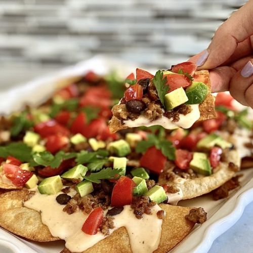 Ultimate nachos with queso