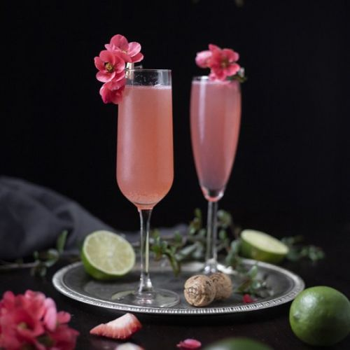 Pink 75 Sparkling Rosé Cocktail