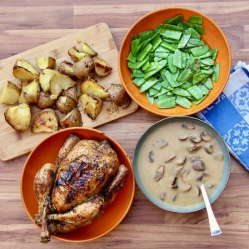 Roast Chicken Dinner with Gravy