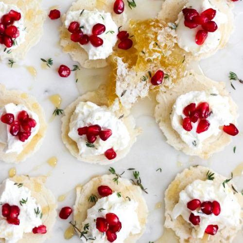 Whipped Goat Cheese Bites