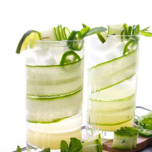Skinny Cucumber Lime Cocktail
