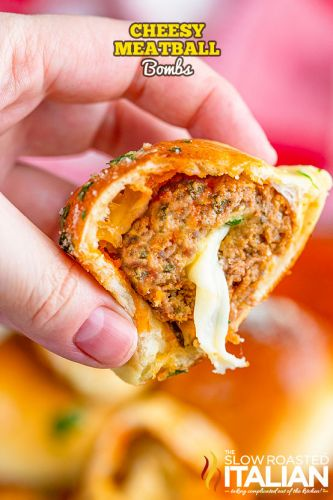Cheesy Meatball Bombs + Video