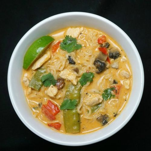 Instant Pot Red Curry Chicken Ramen