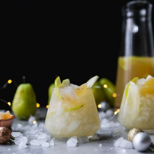 Pear Ginger Champagne Punch