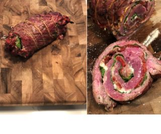 Stuffed Flank Steak Porchetta
