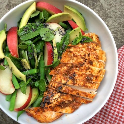 Paprika Zaatar Chicken Summer Salad