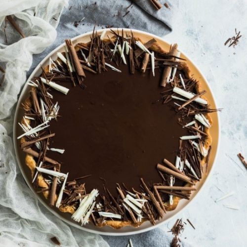 Three Chocolate Tart