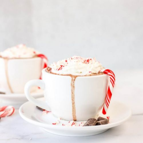 Spiked Candy Cane Hot Chocolate